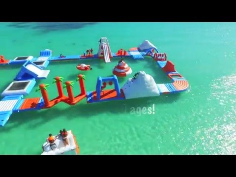 Inflatable Water Park Located in Anguilla BWI