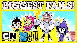 Teen Titans Go! | Biggest Fails | Cartoon Network UK
