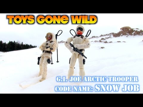 Toys Gone Wild - GI Joe Snow Job (vintage & modern figure review)
