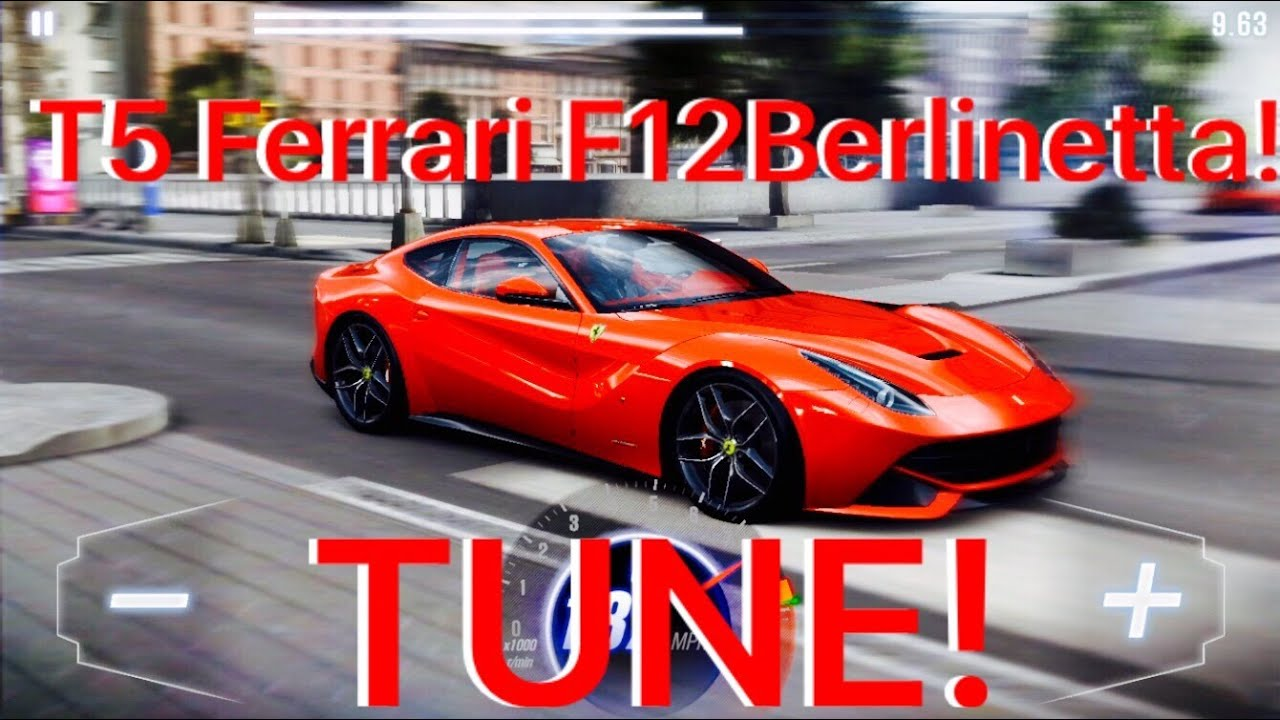csr racing 2 tune t5 ferrari f12 berlinetta 1/2 mile! - youtube