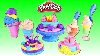 play doh sweet shoppe cake ice cream confections   making play doh food with amy jo zumi on dctc