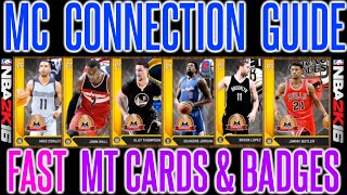 NBA 2K16 - GET ALL CONNECTIONS FAST | MY CAREER CONNECTIONS & BADGES GUIDE