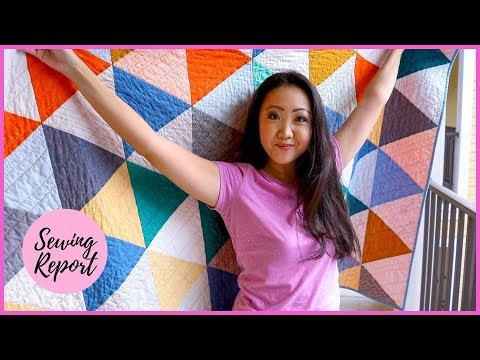 Making A Quilt From Start To Finish ✂️ Quilting Tips For Beginners | SEWING REPORT