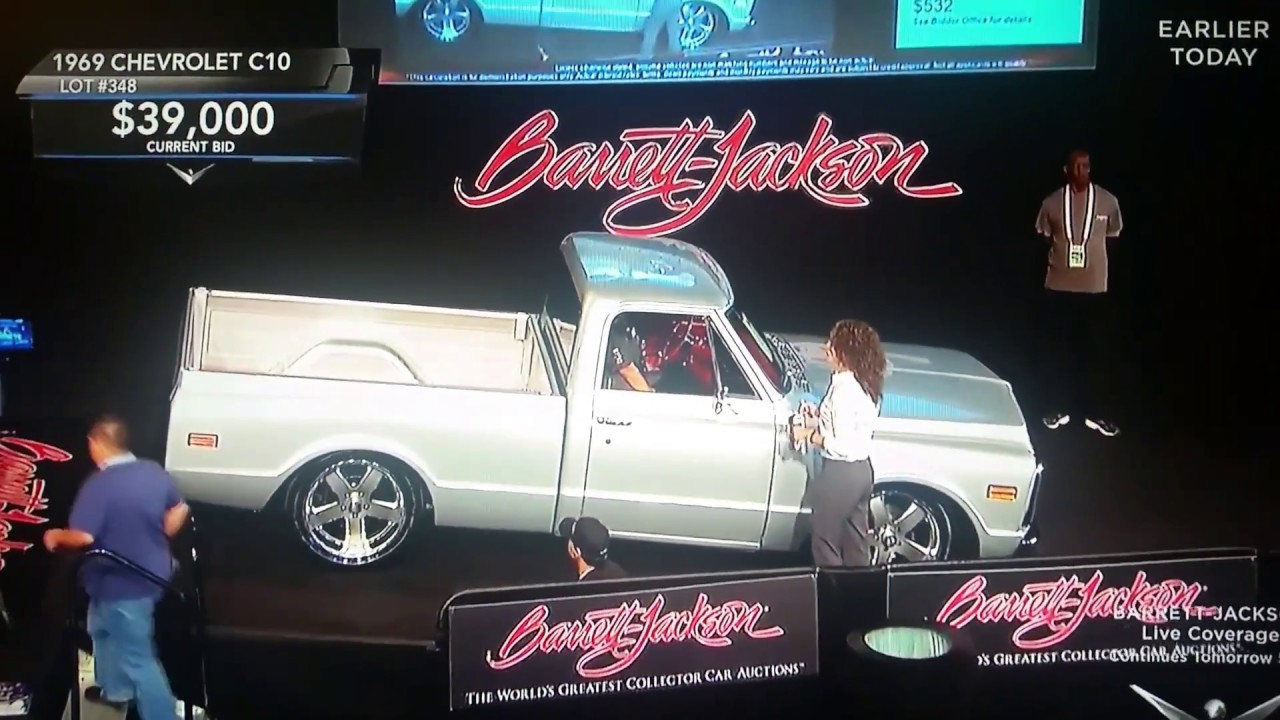 Barrett-Jackson car auction,1969 Chevrolet C10,value of,estimated ...