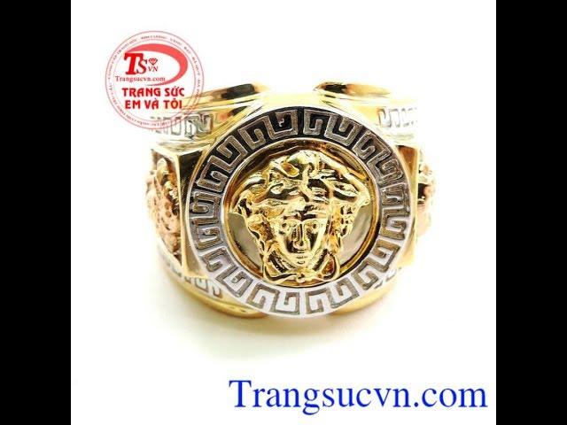 Nh?n Nam Versace 10k , Nh?n Nam ??p , Nh?n Nam Vàng Tây , TSVN016352
