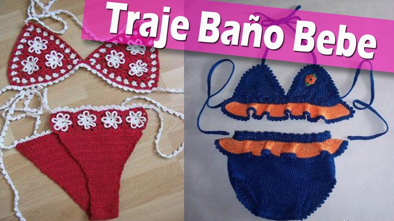 Imagenes De Bestidos De Baño:Traje Tejido De Bebe a Crochet
