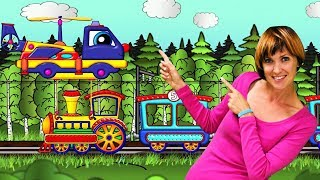 El tren de juguete. Maria y Helpy. Dibujos animados para niños.