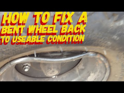 HOW TO REPAIR A BENT WHEEL / RIM BACK TO USABLE CONDITION
