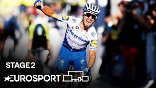 Tour de France - Stage 2 Highlights | Cycling | Eurosport