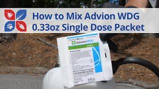 How to Mix Advion WDG