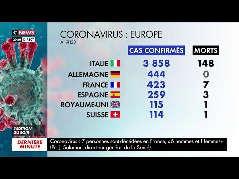Coronavirus: le bilan des cas confirmés et des décès à travers le monde