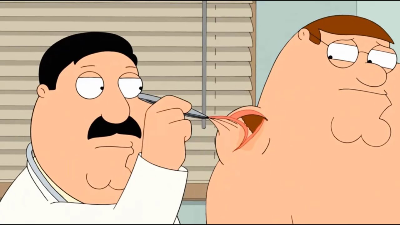 Download Family Guy - The doctor opened Peter's neck