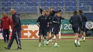 Сборная России по футболу и болельщики готовятся к матчу с командой Финляндии на Евро 2020