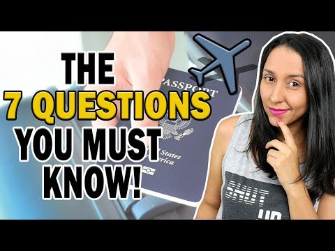 Customs & Immigration 7 QUESTIONS |English At The Airport!