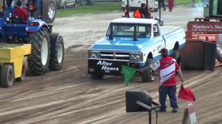 Super stock 4x4 pickup truck pull