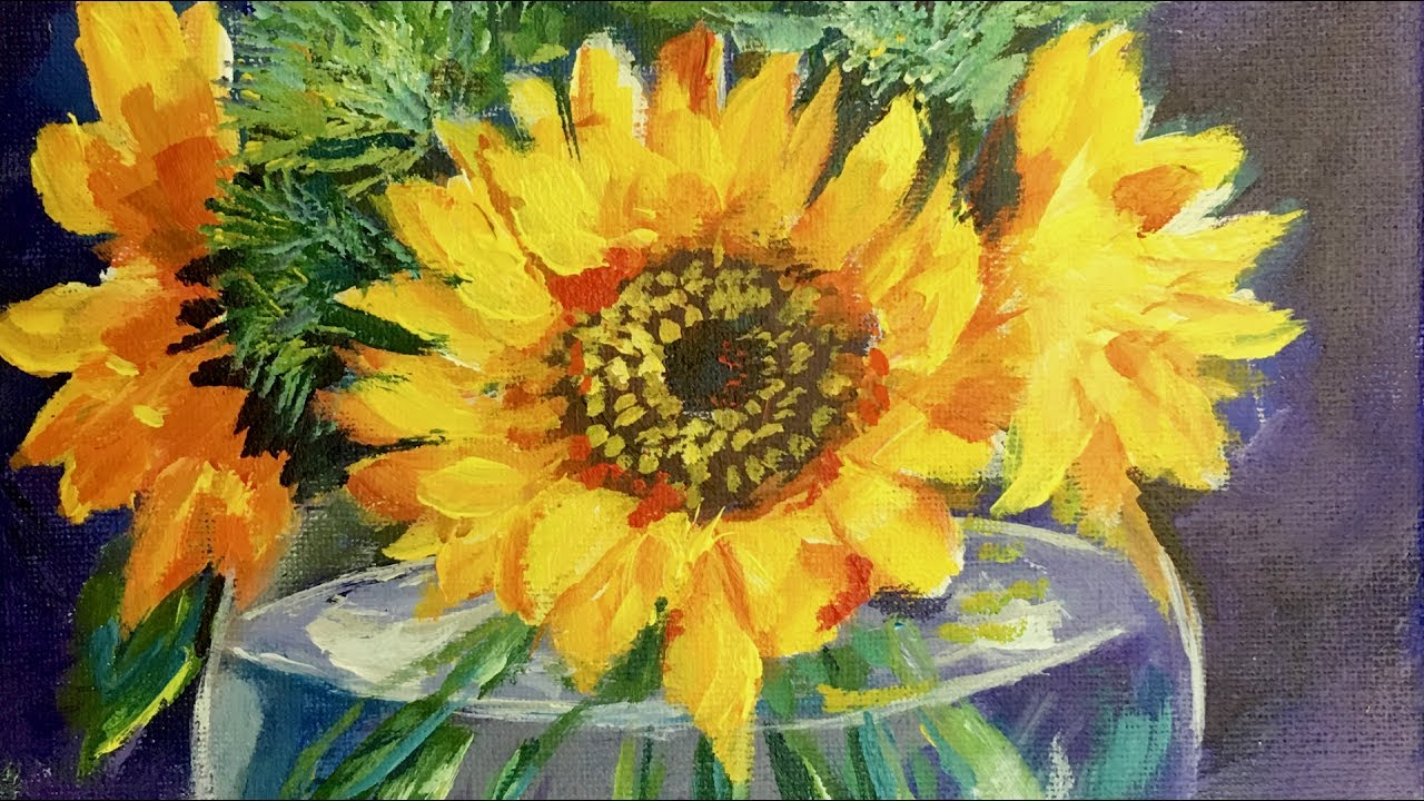 Bringing Life To Your Still Lifes Sunflowers In A Glass