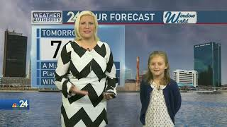 Weather Kid Lucy Joins Meteorologist Kimberly Newman