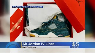 AIR JORDANS: Air Jordan collectors line up outside San Francisco store 48 hours before Levi Air Jord