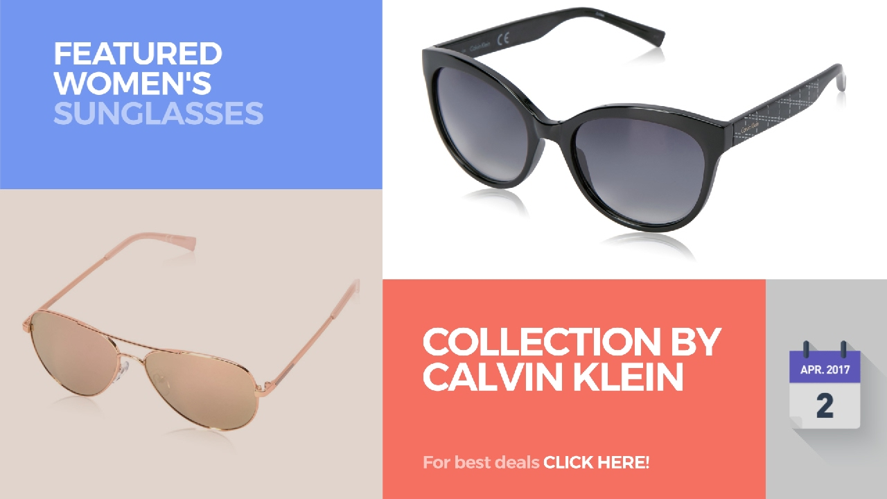 20747770d72 Collection By Calvin Klein Featured Women s Sunglasses - YouTube
