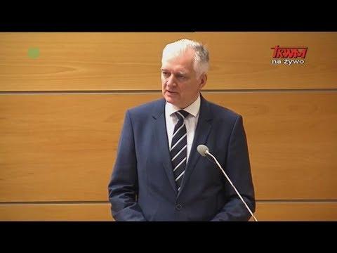 Inauguracja Roku Akademickiego w WSKSIM: wystąpienie wicepremiera Jarosława Gowina
