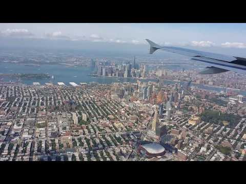 Arriving and landing in NYC La Guardia Airport N708JB Jetblue A320 from Orlando MCO