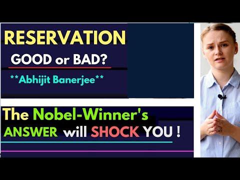 Nobel Memorial Prize | Abhijit Banerjee talks about the Reservation System | Karolina Goswami