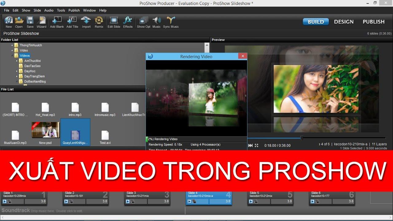 Tuyệt chiêu xuất video trong proshow producer FULL HD của dân design