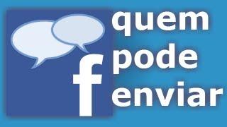 Configurar quem pode me enviar mensagem no Facebook