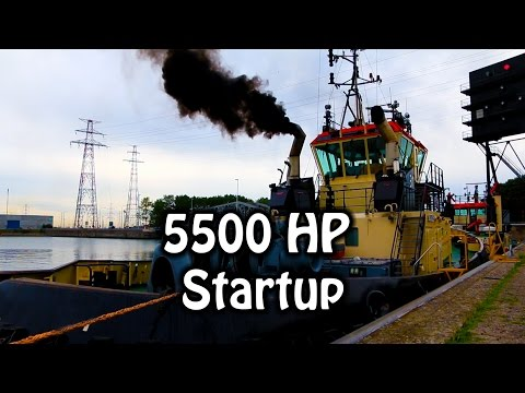 5500 HP Diesel Startup