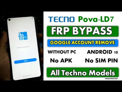 Techno Pova FRP Bypass Google Account Remove Without PC  Android 10,No APK