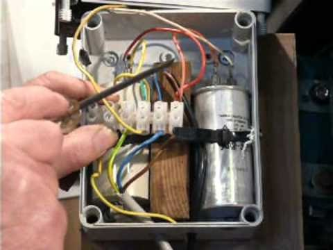 hqdefault single phase motor connection youtube single phase capacitor motor wiring diagram at n-0.co