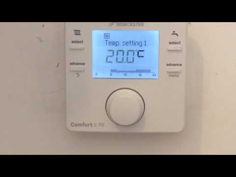 How To Use Worcester Bosch Comfort Rf2 Aquaheat