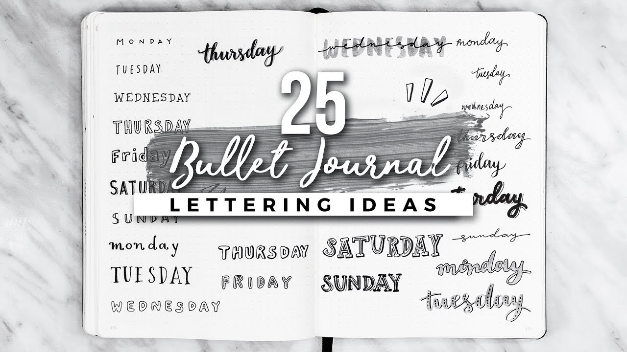 Calligraphy Fonts List 25 Bullet Journal Lettering Handwriting Ideas