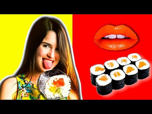 אתגר 24 שעות אוכלת רק סושי!