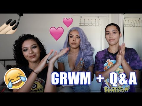 GET READY WITH US! 💄👯‍♀️ + UPDATED Q&A (Relationship? ❤️ What's your Fear? 😰) | CERAADI