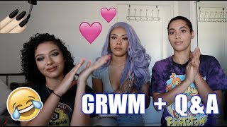 GET READY WITH US! 💄👯‍♀️ + UPDATED Q&A (Relationship? ❤️ What