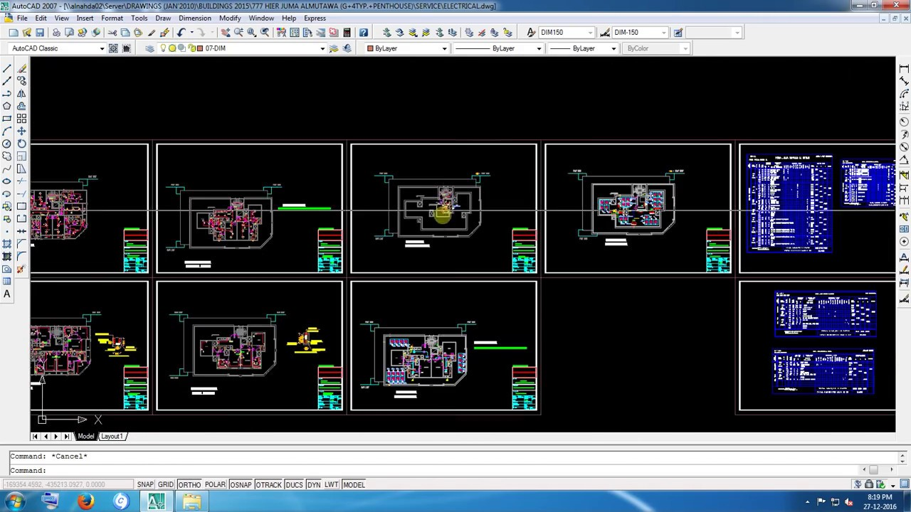 M E P Drawing For Electrical Layout 2d Auto Cad Of Uae In