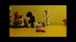 Battle Cats in clay A little battle