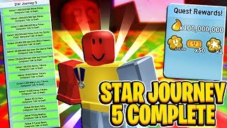 Onetts STAR JOURNEY 5 COMPLETE In Roblox Bee Swarm Simulator