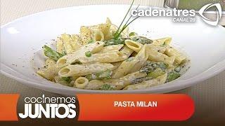 ¿cómo Preparar Pasta Milan? Pasta Milan Con Chicharos Y Esparragos