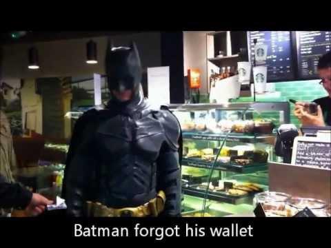 ee71366540701 Batman Drinking Coffee at Starbucks - YouTube