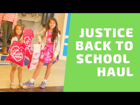 Justice Haul Back to School 2019    The Sammie & Georgie Show