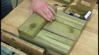 Building Wooden Garden Planters : Building Wooden Garden Planters: Floor Assembly