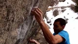 Alex David Johnson climbs Caged Free