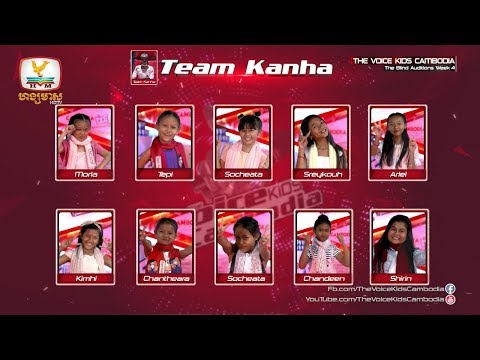 Result  (The Blind Audition Week 4 | The Voice Kids Cambodia 2017)