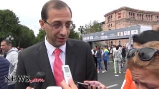 Նախարարը՝ Երևանում անցկացված առաջին միջազգային կիսամարաթոնի մասին