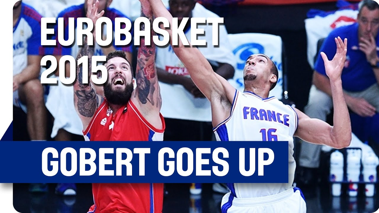 Rudy Gobert goes up for a Dunk - EuroBasket 2015