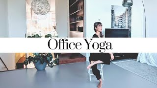 10 min Office Yoga - stress menagement (with chair)