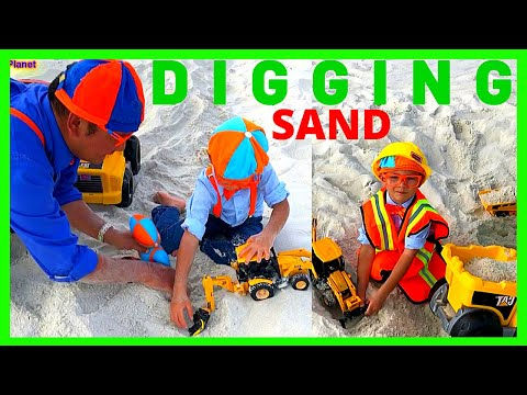 SKID STEER/EXCAVATOR/DUMP TRUCKS! Blippi's Fan- William At Panama Beach Florida