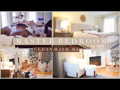 NEW HOUSE Master Bedroom Clean With Me \\ BEFORE + AFTER